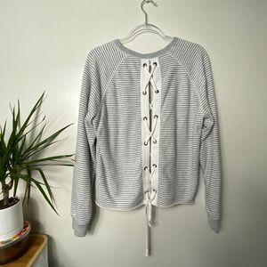 Abercrombie & Fitch sweatshirt with lace-up back